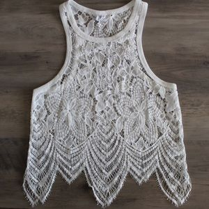 Stolen Hearts Lace Tank Top
